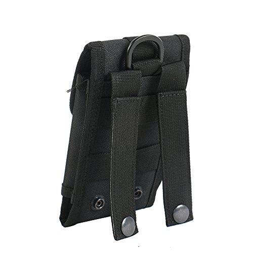 bolsa del cinturón / funda para Samsung Galaxy S4 Mini Duos, negro | caja del teléfono cubierta protectora bolso - K-S-Trade (TM)