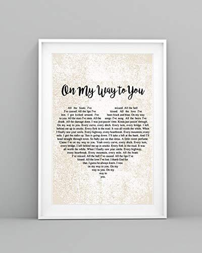 Mattata On My Way to You Lyrics Poster Print (12