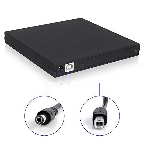 tengertang External CD DVD Drive-external cd dvd drive usb 2.0 dvd optical drive pc dvd drive for Laptop Notebook PC Desktop Computer(Black) by tengertang (Image #4)
