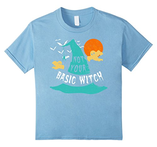 Top 10 Scariest Costumes (Kids Not Your Basic Witch T-Shirt Awesome Witch Hat Costume Shirt 10 Baby Blue)