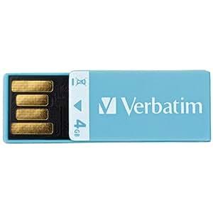 Verbatim 4 GB Clip-IT USB 2.0 Flash Drive 97550 (Blue)