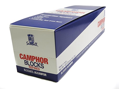 Sanar Naturals Premium Camphor Blocks 4 Tablets Each 16