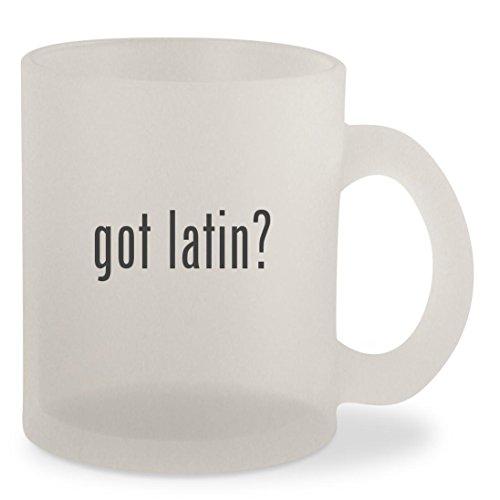 Bongo Womens Dress Shoe (got latin? - Frosted 10oz Glass Coffee Cup Mug)