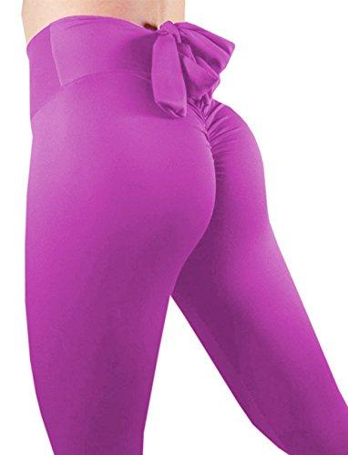 (SEASUM Women Scrunch Butt Yoga Pants Leggings High Waist Waistband Workout Sport Fitness Gym Tights Push up)