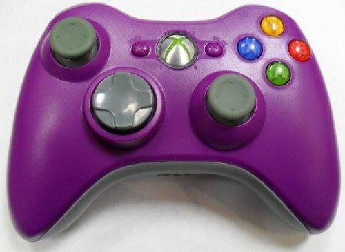 Purple Xbox 360 Modded Controller (Rapid Fire Mod) COD MW3 MW2 Black Ops 2 (Controller Xbox Modded Purple 360)
