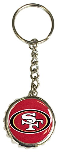 Pro Specialties Group NFL San Francisco 49Ers Bottle Cap Keychain, Red, One Size