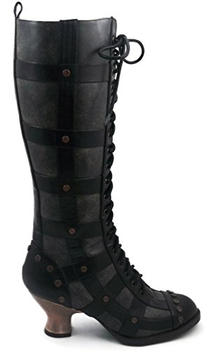 Hades Shoes H-Dome 2 inch Lace-up Retro Knee Boot 3