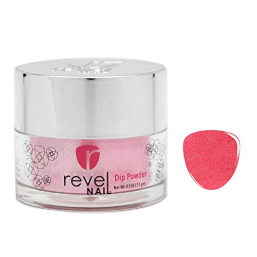 Revel Nail Dip Powder | for Manicures | Nail Polish Alternative | Non-Toxic, Odor-Free | Crack & Chip Resistant | Vegan, Cruelty-Free | Can Last Up to 8 Weeks | 0.5oz Jar | Revel Mate | Glam
