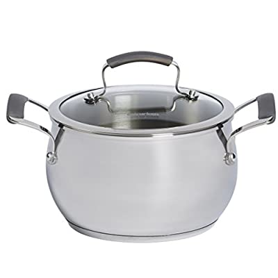 Epicurious Stainless Steel 4 qt. Covered Soup Pot