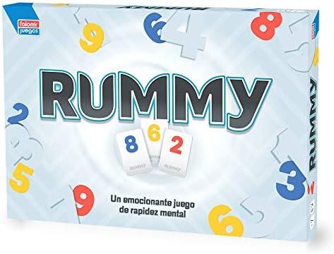 Falomir Rummy Junior Juego de Mesa, Multicolor, Talla Única ...