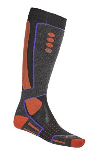 Hyra has007, Calcetines de Esquí para Hombre Multicolor (Orange/Bleu)