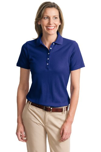 Port Authority Ladies Cotton Pique Knit Sport Shirt, 4XL, Cobalt Blue