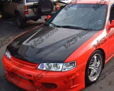 Accord Vis Oem Carbon Fiber (VIS 94-97 Honda Accord Carbon Fiber Hood INVADER CD)