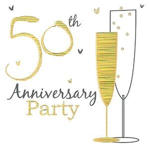 Golden Wedding Invitations {50th Anniversary: Amazon.co.uk ...