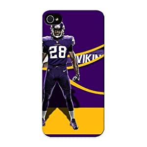 Crooningrose High Quality Shock Absorbing Case For Iphone 5/5s-minnesota Vikings Team Jersey wangjiang maoyi