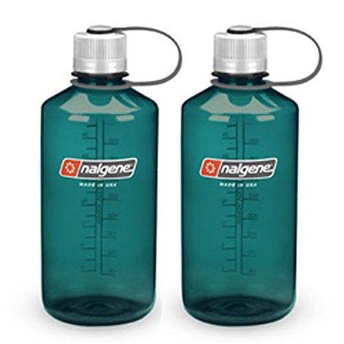 NALGENE Tritan 1-Quart Narrow Mouth BPA-Free Water Bottle (Green Set of 2)