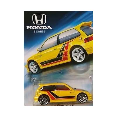 Hot Wheels Honda Series 2020 Release 1990 Yellow Honda Civic EF, '90 Yellow Honda Civic EF: Toys & Games