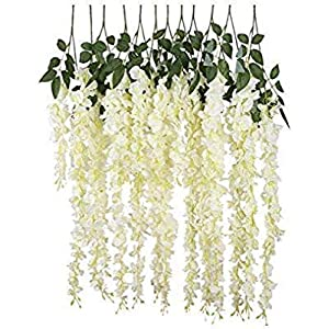 Wisteria S2 Decors Artificial Flowers wisteria Set of 6 pcs. Used for Hanging as Decoration Purpose