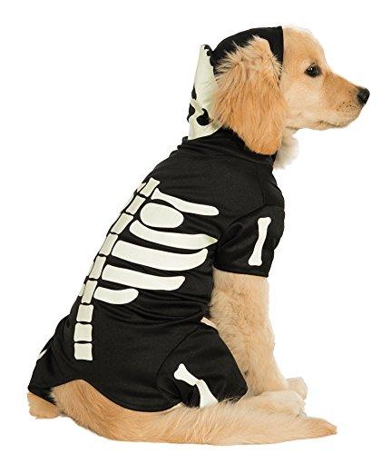 Rubies Costume Glow-in-the-Dark Skeleton Hoodie Pet Costume, XX-Large