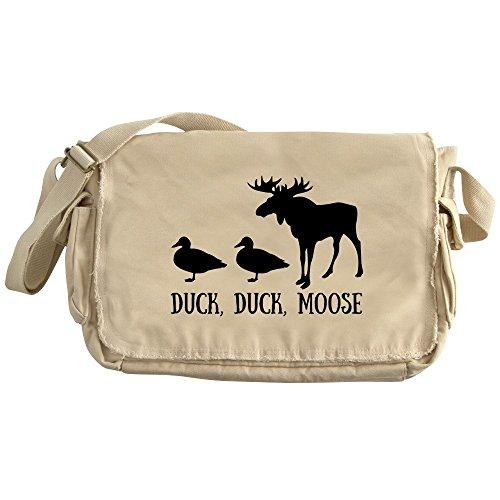 CafePress - Duck,Duck, Moose - Unique Messenger Bag, Canvas Courier Bag by CafePress