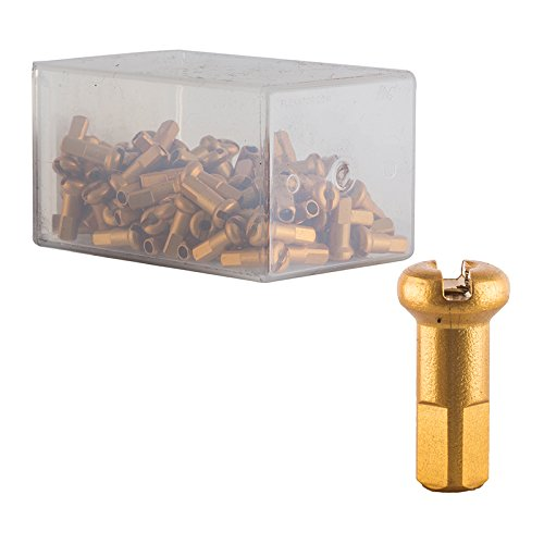 DT Swiss 14G Alloy Nipple Spoke (Box of 100), Gold, 2mm