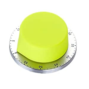 Huayoung Creative Battery-Free Kitchen Timer Colorful & Decorative Timers 6 Color Options (Yellow)