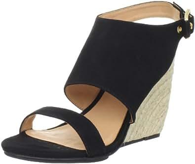 Rebecca Minkoff Women's Suri Wedge Sandal, Black Suede, 6.5 M US