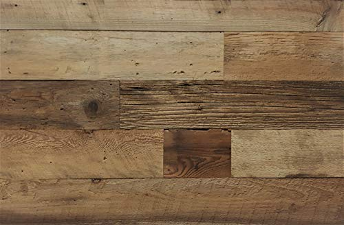 EAST COAST RUSTIC Reclaimed Barn Wood Wall Panels - Easy Install Rustic Wood DIY Wall Covering for Feature Walls (20 Sq Ft - 5.5