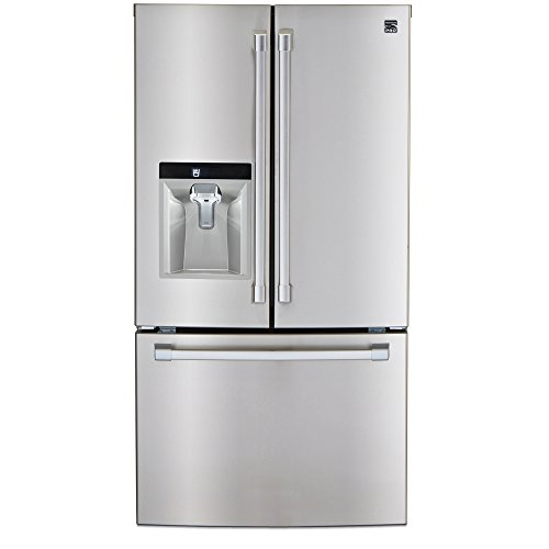 Price comparison product image Kenmore PRO 79993 23.7 cu. ft. Counter-Depth French Door Bottom freezer Refrigerator in Stainless Steel,  includes delivery and hookup