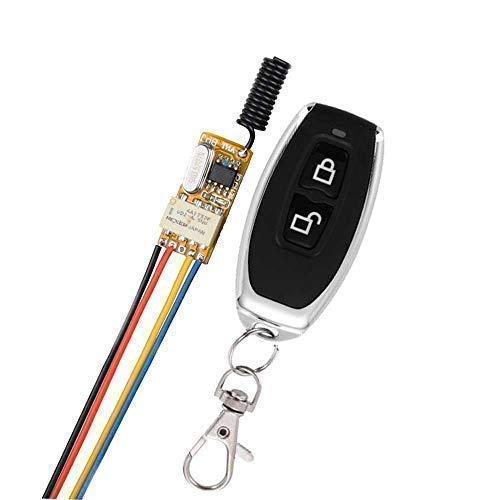 Mini Remote Switch 12V 433Mhz Remote Control Relay, Automatic Door Operators Remote Control Switch for Home Use, Working Voltage 3.7V 4.5V 5V 6V 7.4V 9V 12V