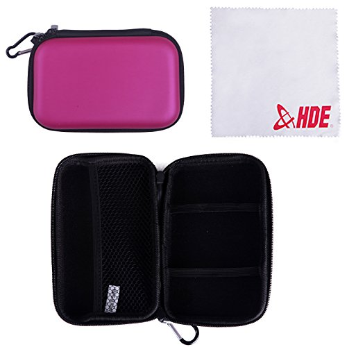HDE Hard Travel Case Cover for Nintendo DS & 3DS (Original & XL) Handheld Game Systems (Purple)