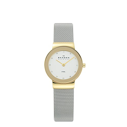 Skagen Women's 358SGSCD Freja Quartz 2 Hand Stainless Steel Silver Watch