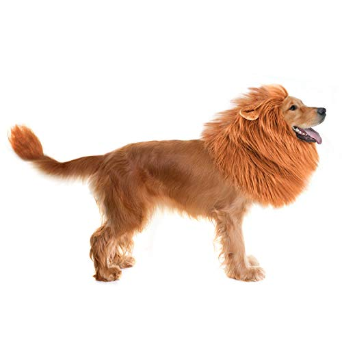 Blue Long Curly Hair Pet Dog Wig For Christmas Festival Halloween Cosplay Decorations Dog Costume Accessories Sophisticated Technologies Home & Garden Dog Accessories