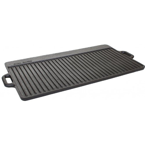 Cajun Cookware 28 Inch Reversible Seasoned Cast Iron Griddle - Gl10494as