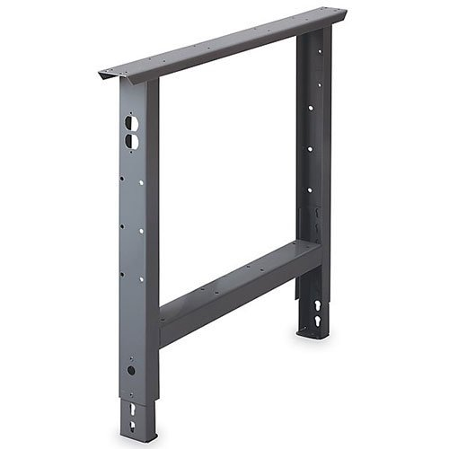 Adjustable-Height Bench Leg - 36''D - 27-7/8 to 35-3/8''H - Gray