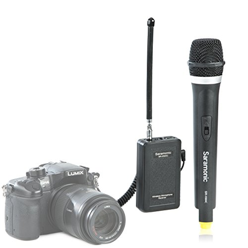 Saramonic Professional Portable Wireless VHF Handheld Microphone System for DSLR Camera/Video Camcorder, Compatible with Canon/Nikon/Sony/Panasonic/BlackMagic/Zoom/Tascam/Roland