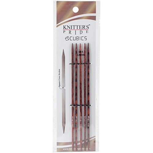 Knitter's Pride 4/3.5mm Cubics Double Pointed Needles, 6