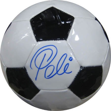 Pelé Hand-Signed Soccer Ball Authenticated with a