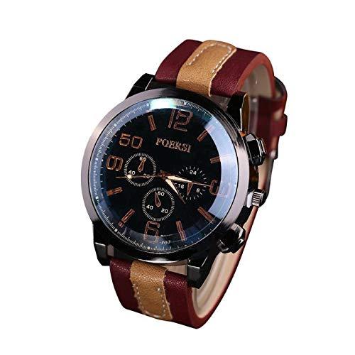 SamMoSon Relojes Hombre Resistentes Al Agua Mujer Azul Elegantes, Relojes De Lujo para Hombres Reloj