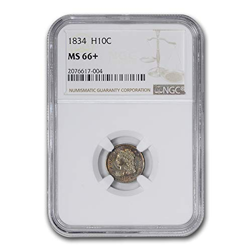 1834 Capped Bust Half Dime MS-66+ NGC Dime MS-66 NGC - Dimes Ngc