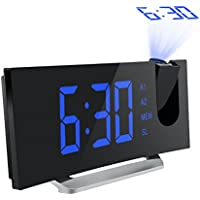 Mpow Curved-Screen Digital Alarm Clock with 5'' LED Display