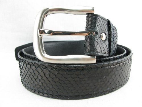 (PELGIO Genuine Python Snake Skin Men's Belt 46