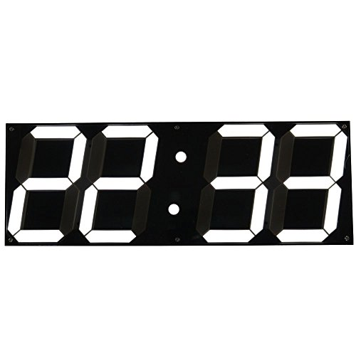Goetland 16 3/4 Jumbo Wall Clock LED Digital Multi Functional Remote Control Countdown Timer Temperaturer, White Digital on Black Background