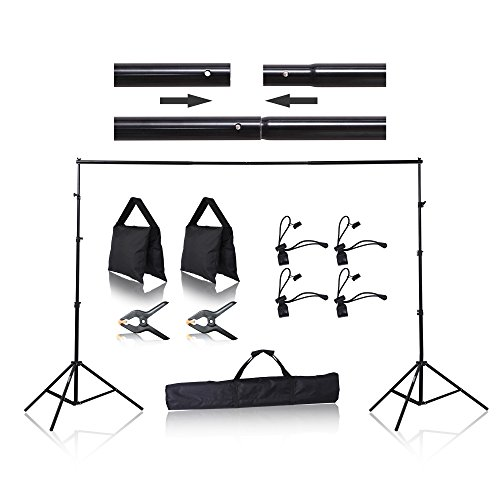 Emart 8.5 x 10 ft Photo Backdrop Stand, Adjustable Photography Muslin Background Support System Stand for Photo Video -