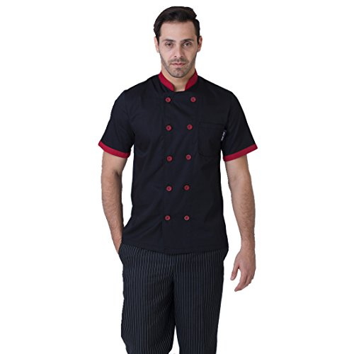 JXH Chef Uniforms men's short sleeve chef black - Camo Chef Coat