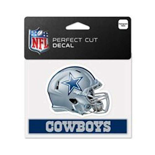 (Bek Brands Licensed Professional Football Teams 4 x 5 Cling Decal for Cars, Windows and More, Helmet (Dallas Cowboys))