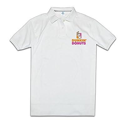 Printed Polo Shirts Dunkin' Donuts Logo Tops