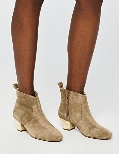 Find Taupe Cuir Western Beige Bottines taupe Femme En 7PSqH