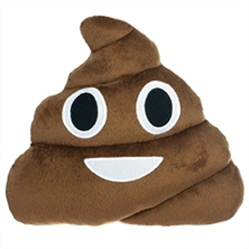 """Poop Emoji Pillow 12"""" 