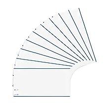 Herma Classic - Portada para libros, 190 x 380 mm, plástico, borde azul, longitud normal, 1 funda para libros, color transparente 25 x 44 cm